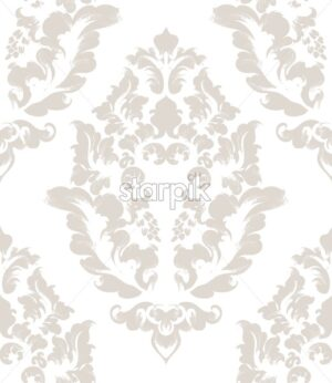 Baroque texture pattern Vector. Floral ornament decoration. Victorian engraved retro design. Vintage grunge fabric decors. Luxury fabric - starpik