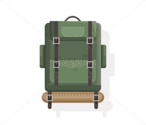 Camping bags isolated Vector flat style. Icon template activity sport luggage - starpik