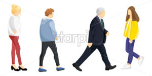 People lifestyle set Vector. Flat style colorful set isolated on white - starpik