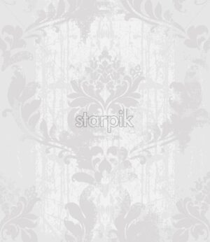 Vintage Ornament pattern Vector. Baroque rococo texture luxury design. Royal textile decors. Old painted background - starpik