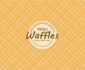 Waffles pattern background Vector. Vintage realistic texture - starpik