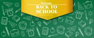 Back to school sale poster Vector. Autumn fall promotion banner. School supplies promotion template - starpik
