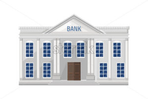 Bank architecture facade isolated Vector. Flat style illustration - starpik