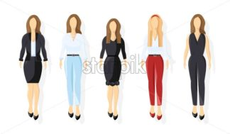 Business women Vector flat style. business team template icon isolated - starpik