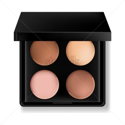 Eye shadow cosmetics Vector realistic. Product placement. 3d illustration - starpik