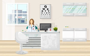 Medical office doctor consultation Vector. Medicine and healthcare concept. flat style template illustration - starpik