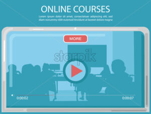 Online courses page template Vector. Education promotion sale advertise - starpik