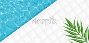 Pool abstract background Vector realistic. 3d detailed illustration summer mood - starpik