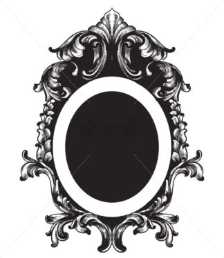 Vintage frame Vector line art. Classic engraved ornaments. Royal style - starpik