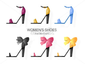 Woman shoes set Vector. Promotion brochure banner or poster - starpik