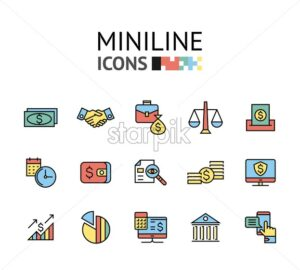 start up, teamwork, cooperation business, idea, brain storm vector flat line icons set - starpik
