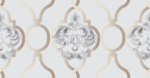 Arabic golden ornament pattern background Vector. Blue glossy color decor - starpik