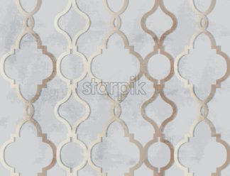 Arabic golden ornament pattern background Vector. Luxury elegant glossy color decor - starpik