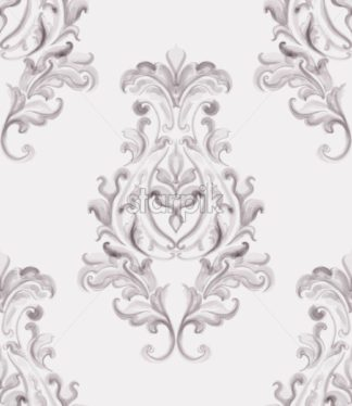 Baroque ornament Vector. Luxury watercolor trendy texture. Vintage retro old style - starpik