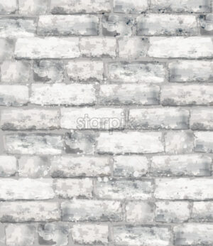 Brick texture Vector watercolor. Stone background template decor - starpik