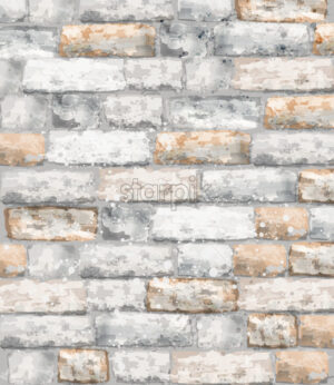 Brick texture Vector watercolor. Stone background template material - starpik