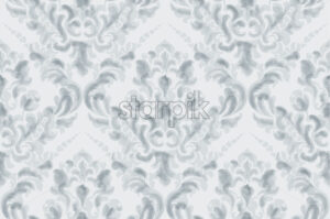 Classic elegant ornament pattern watercolor vector. Blue delicate color texture - starpik