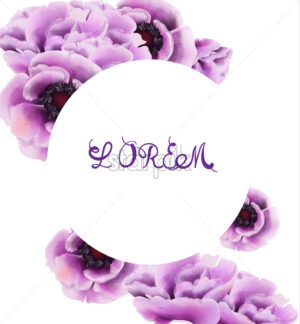 Purple flowers Vector watercolor. Provence rustic poster. Wedding card, birthday ceremony event decor - starpik