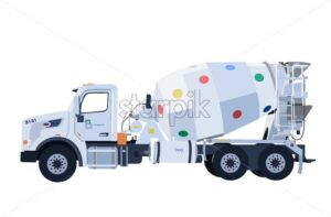 Colored mixer truck - Starpik Stock