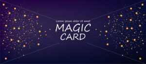 Cosmic background with abstract colors magic card vector - Starpik Stock