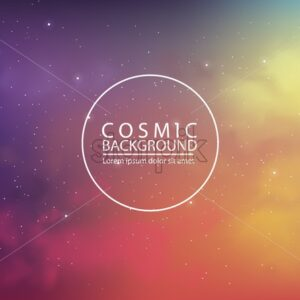 Cosmic background with abstract colors on background - Starpik Stock