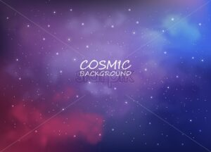 Cosmic backgrounds with abstract colors vector. Sky full of stars - Starpik Stock