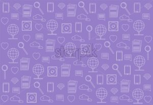 Innovative technologies icons pack vector. Pink background - Starpik Stock