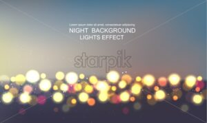 Light glitter and stars in the sky magic card vector - Starpik Stock