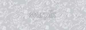 Rococo texture pattern Vector. Floral nament decoration. Victorian engraved retro design. Vintage grunge fabric decors. Luxury fabrics - Starpik Stock