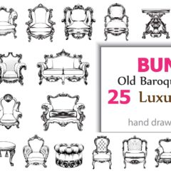 Bundle Vector 25 Baroque furniture
