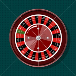 Casino roulette wheel from top view. Vector - Starpik Stock
