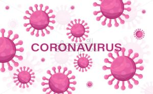 Corona virus background Vector. Epidemic infectious disease - Starpik Stock