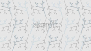 Line art texture of blue branches with leaves on gray background. Vector - Starpik Stock
