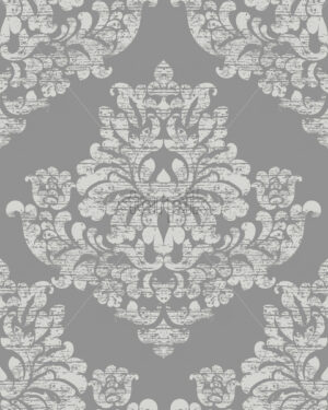 Classic luxury ornament on grunge background. Royal Victorian texture. Vector - Starpik Stock