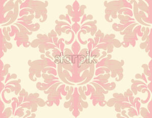 Damask vintage texture. Classic background with oriental elements. Vector - Starpik Stock