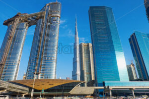 Dubai cityscape with Burj Khalifa tower in United Arab Emirates - Starpik Stock