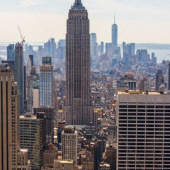 Empire State Building, a beautiful view of the New York city, Manhattan, USA - Starpik Stock