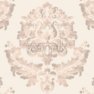 Luxury texture background. Floral decoration. Classic vintage decor. Vector - Starpik Stock