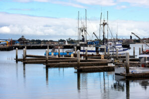 Seaport and moored boats in San Diego - Starpik Stock