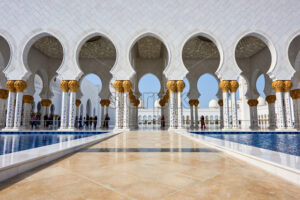 Sheikh Zayed Grand Mosque. Abu Dhabi, United Arab Emirates - Starpik Stock