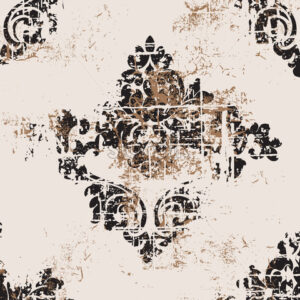 VIntage grunge baroque pattern. Royal luxury texture. Vector - Starpik Stock