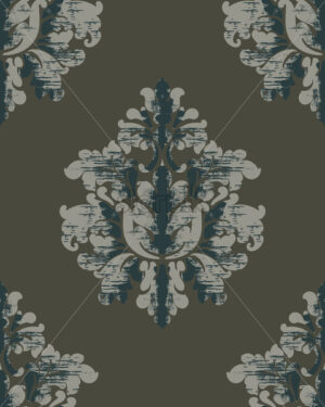 Vintage pattern. Classic royal background. Damask wallpaper. Vector - Starpik Stock