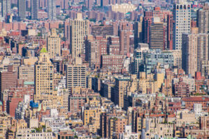 a beautiful view of the New York city, Manhattan, USA - Starpik Stock