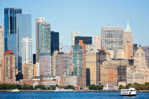 beautiful panorama of New York City during the day, from the Hudson River, USA - Starpik Stock