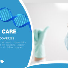 Medical healthcare banner template photoshop PSD project. Logo, icons and place for text