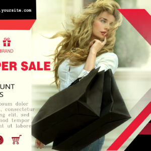 Sale banner template mockup photoshop PSD project