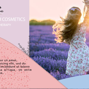 Lavender cosmetics banner template mockup photoshop PSD project
