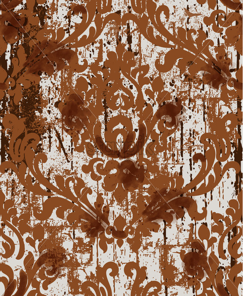 Classic luxury damask ornament. Old fashioned victorian texture. Floral baroque template. Vector - Starpik Stock