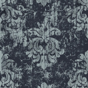 Damask vintage pattern. Grunge design. Dark and light colors. Vector - Starpik Stock