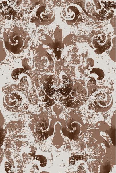 Rich Elegant design in royal style. Floral and swirl element. Vintage baroque texture. Vector - Starpik Stock